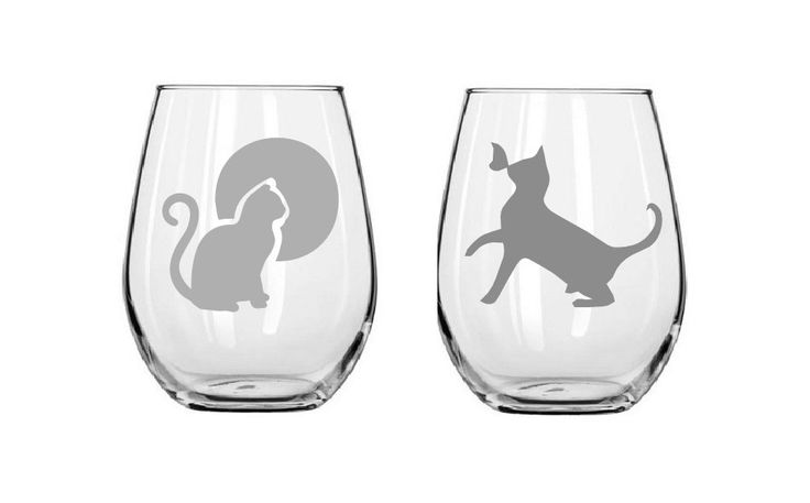 Cat Glasses,cat wine glass,etched cats,birthday gifts,Funny glass,Gifts,Christmas gifts,Etched gifts by MileStoneArtworks on Etsy