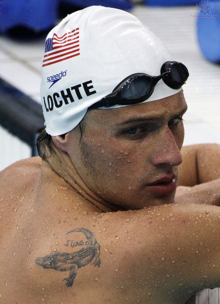 Think She Has A Roadrunner Tattoo Ryan Lochte Of Florida