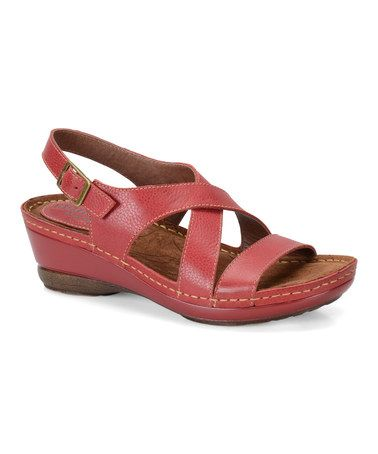 Hot Red Arizona Leather Sandal #zulily #zulilyfinds