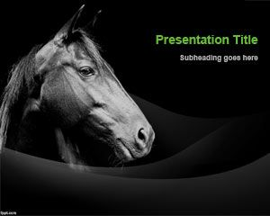 Free Champion Horse PowerPoint Template | Free Powerpoint Templates