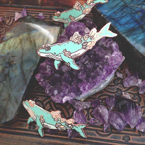 Crystal Whale - Hard Enamel Pin