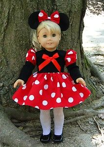 for american girl dolls: Doll Clothes, Doll Costume, Minnie Mouse, Ag Doll, Americangirl, 18 Inch, Girl Dolls, American Doll, American Girls
