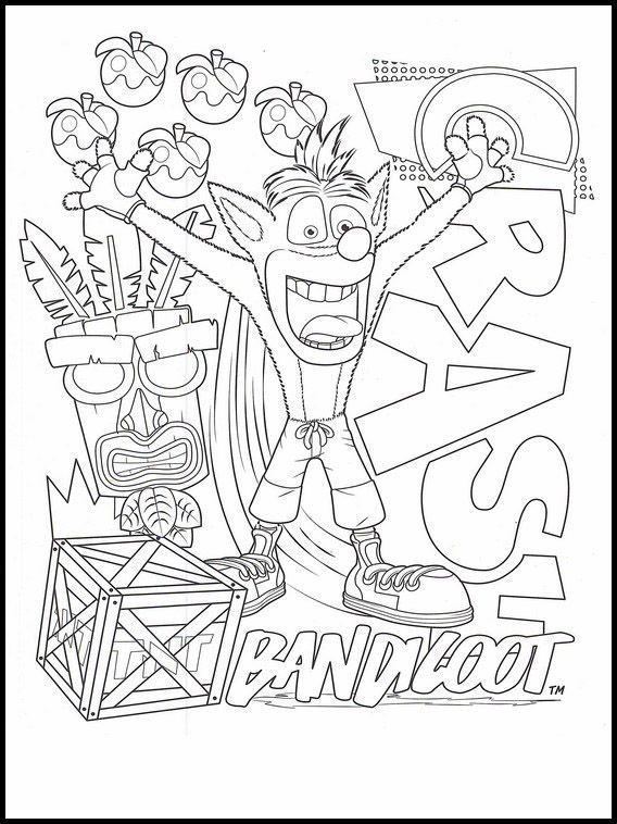 Crash Bandicoot 10 Ausmalbilder Fur Kinder Malvorlagen Zum Ausdrucken Und Ausmalen Ausmalbilder Ausmalen Ausmalbilder Kinder