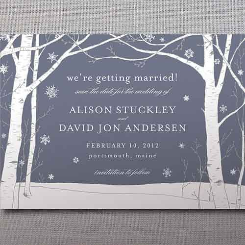 winter wedding invitations | Stylish winter wedding invitations with tree ornaments. | wedding