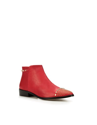 Zara bootsTimeline Photos, Purchase Pending, Style Obsession, Flats Boots, Studs Booty, Red Booty, Red Studs, Perfect Pairings, Nasty Gal