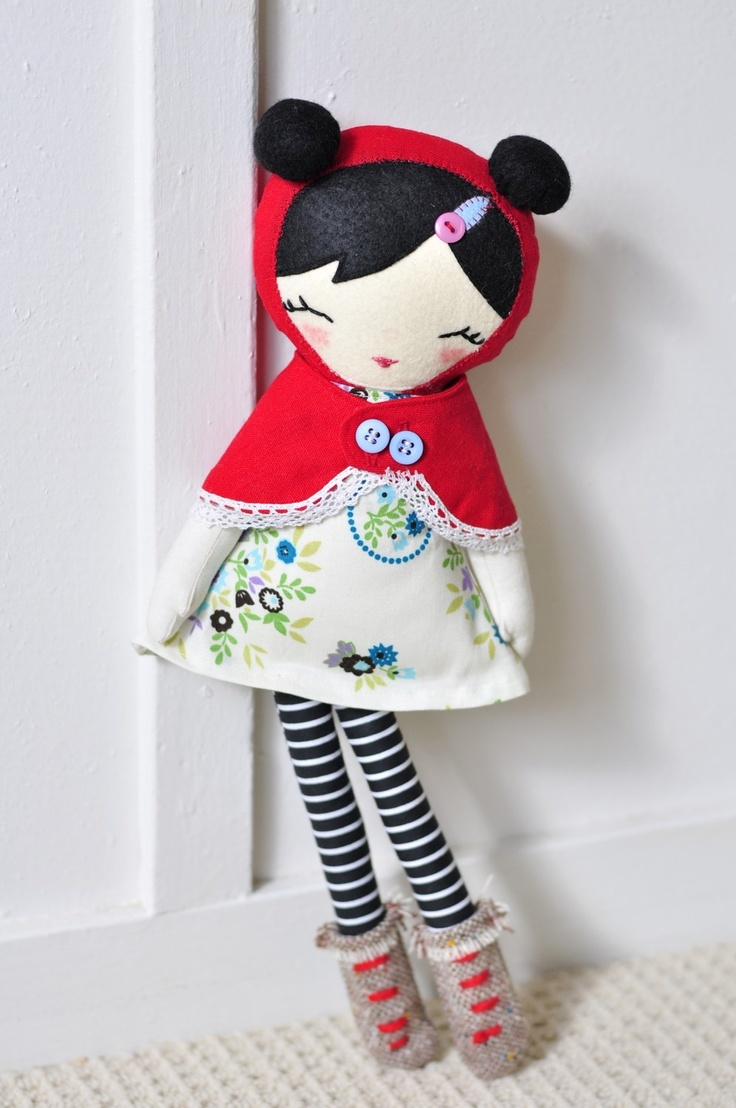 Nooshka Cloth Doll Red Hood
