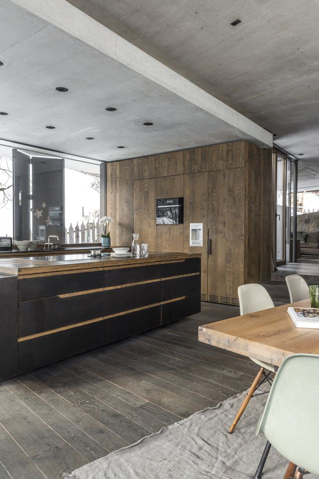 Local joiners and craftsmen worked on the new kitchen fitout, which was custom-designed by the architects.