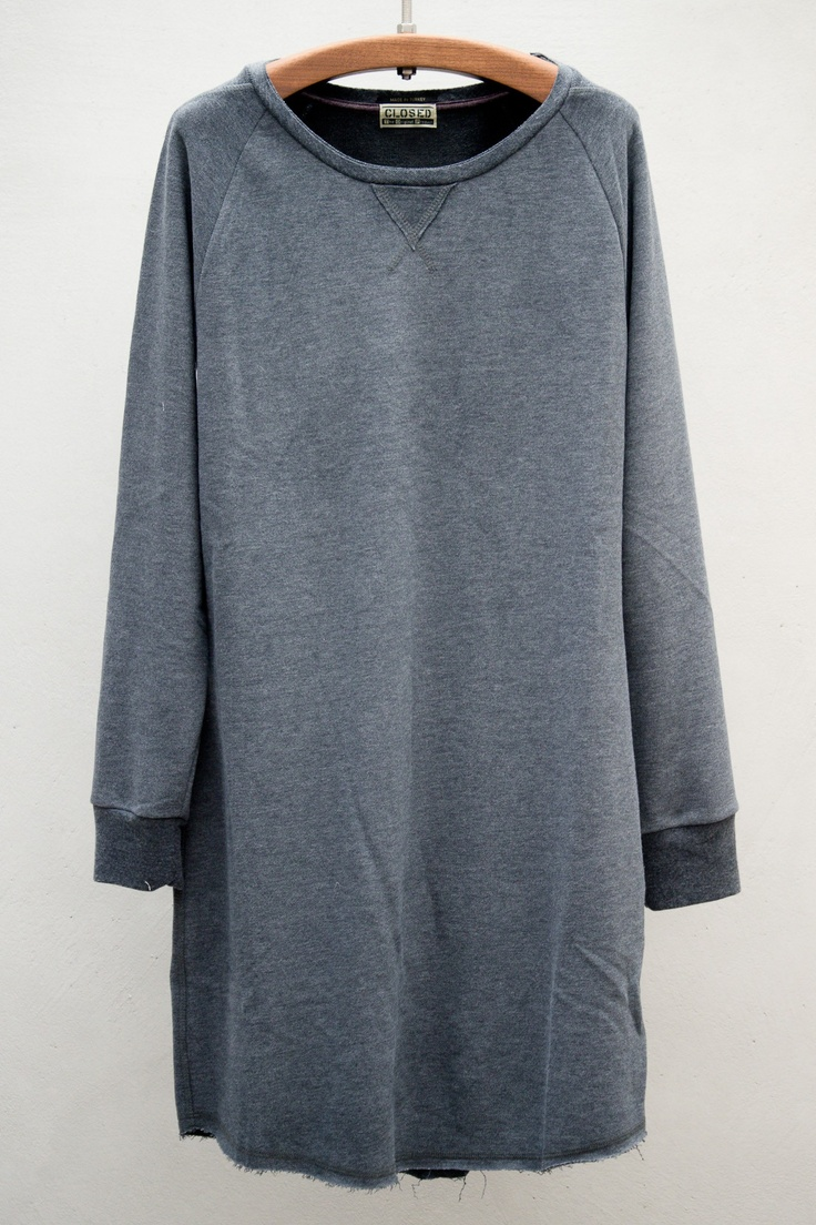 closed, sweatshirt dress — anthracite.