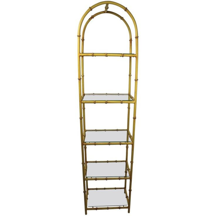 Faux Bamboo Etagere In Iron And Glass Faux Bamboo Glass Bamboo