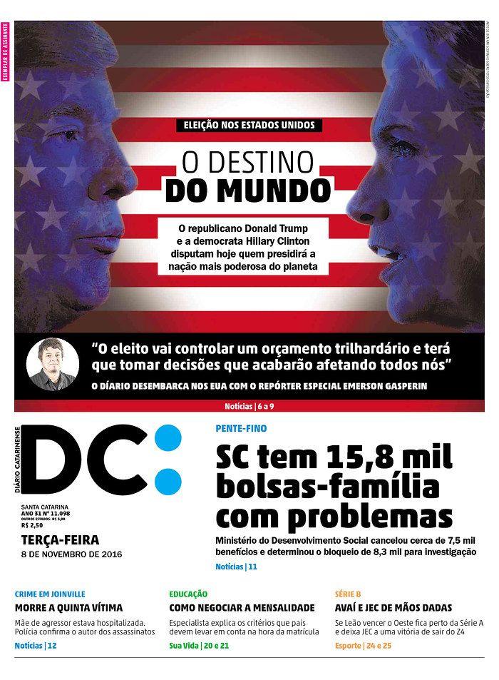 DIARIO CATARINENSE (Brazil) 11/8/16 via Newseum
