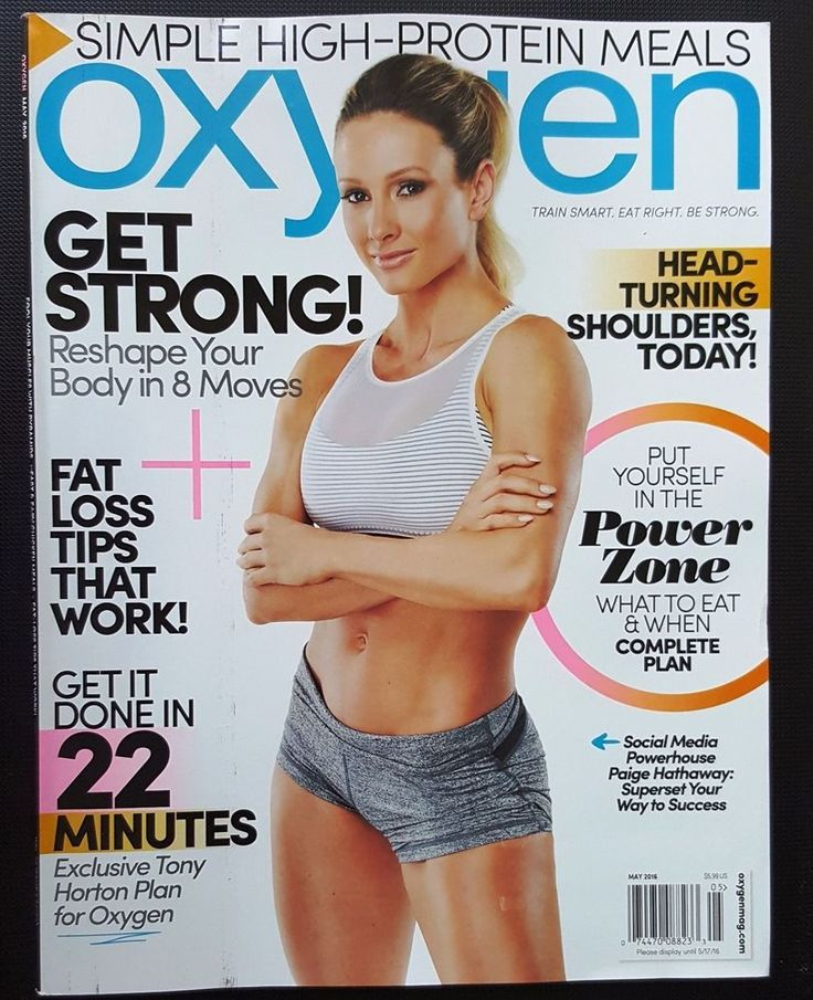 Paige Hathaway Oxygen Magazine May 2016 Lifestyle Health Fitness Sports ABS Diet