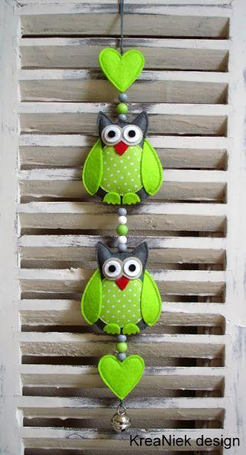 Cute design idea - KreaNiek Design: Uiltjes slingers
