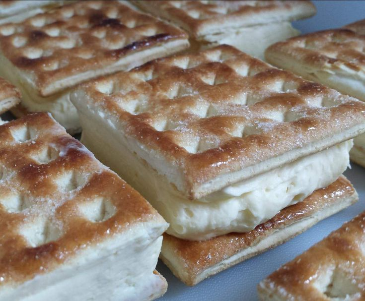 Recipe Vanilla Slice - quick easy 4 ingredients by nicocoa - Recipe of category Desserts & sweets