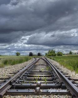Mendham Tracks - the old railroad tracks at Mendham Saskatchewan