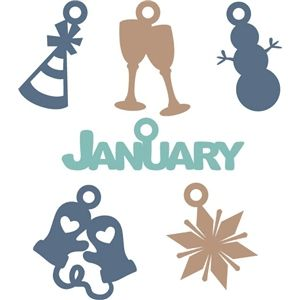 Silhouette Design Store - View Design #20613: january charms