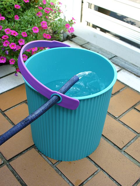 Omnioutil bucket by Sceltevie/Hachiman-kasei. For outdoor/indoor use. Made in Japan.