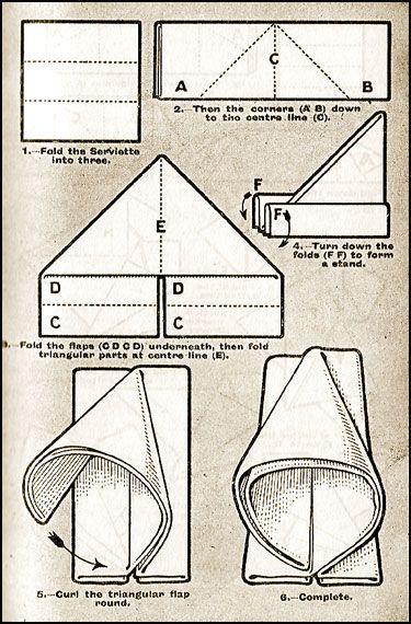 Table Napkin Folding Techniques - The Sachet