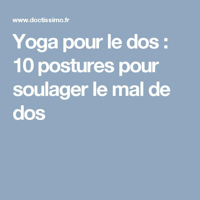 1000 ideas about le mal de dos on pinterest exercice mal de dos exercices de yoga and. Black Bedroom Furniture Sets. Home Design Ideas