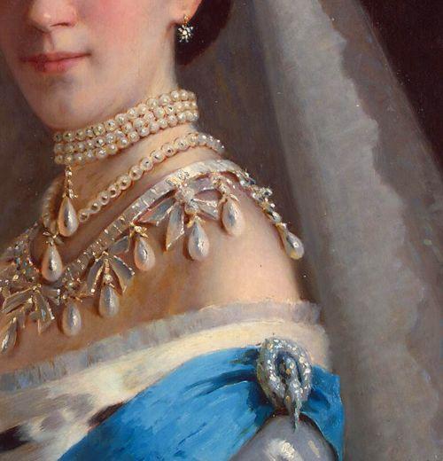 Portrait of Empress Maria Fiodorovna in a Head-Dress Decorated with Pearls  www.jaded-mandarin.tumblr.com/