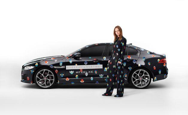 Stella McCartney dresses Jaguar XE | FemmeFrontaal.nl | Female touch in automotive | Vrouwelijke kijk opa auto's | www.femmefrontaal.nl