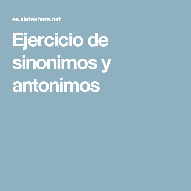 Artesanato O Que É ~ Best 25+ Sinonimos antonimos ideas on Pinterest Clases de antonimos, Sinónimos y antónimos and