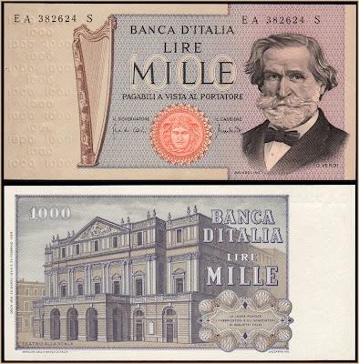1.000 LIRE Verdi II° tipo Italy