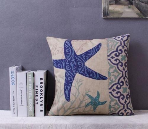 Star-Fish-Pillow-Cushion-Cover-Beach-Ocean-Sea-Theme #starfish #beach #theme #cushion #pillow