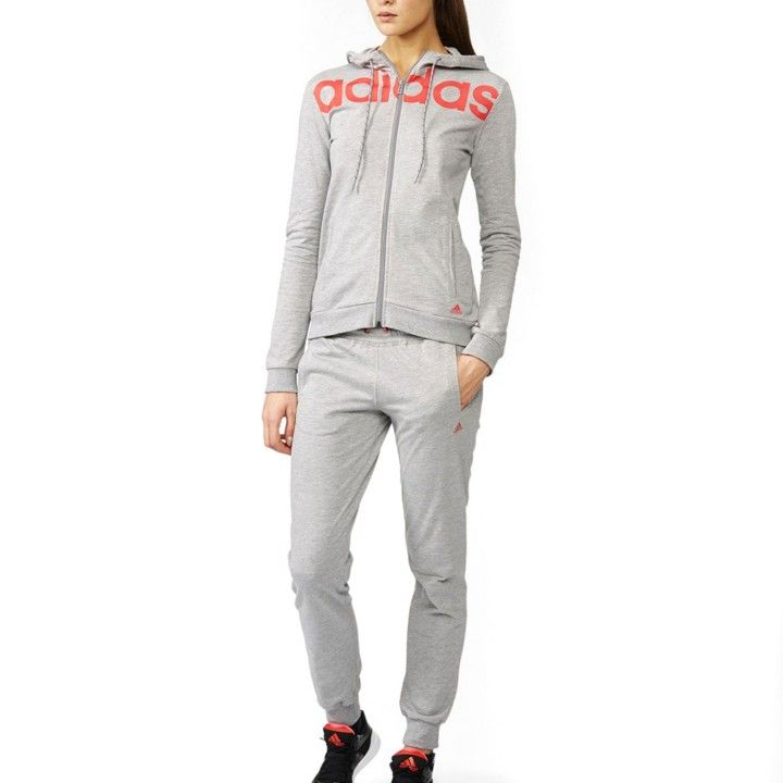 chandal adidas gris mujer