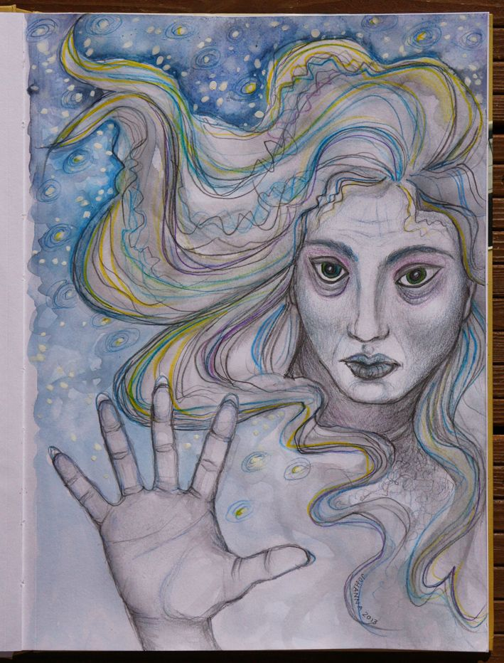 Artwork made by Johanna Ollila inspired by Josh Lanyon book Winter (The Haunted Heart series #1)