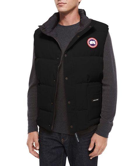 CANADA GOOSE Freestyle Down Puffer Vest, Black. #canadagoose #cloth #