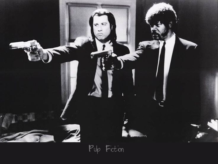 """One of the most iconic images of the film """"Pulp Fiction."""""""