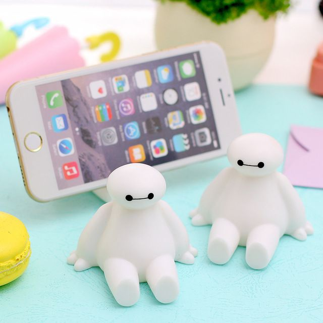 Suporte Para Celular Baymax Soft Cartoon universal Mobile Phone Stand Holder for Iphone 5S 5C 5 4 6 Ipod Samsung Galaxy S4 S3 S6
