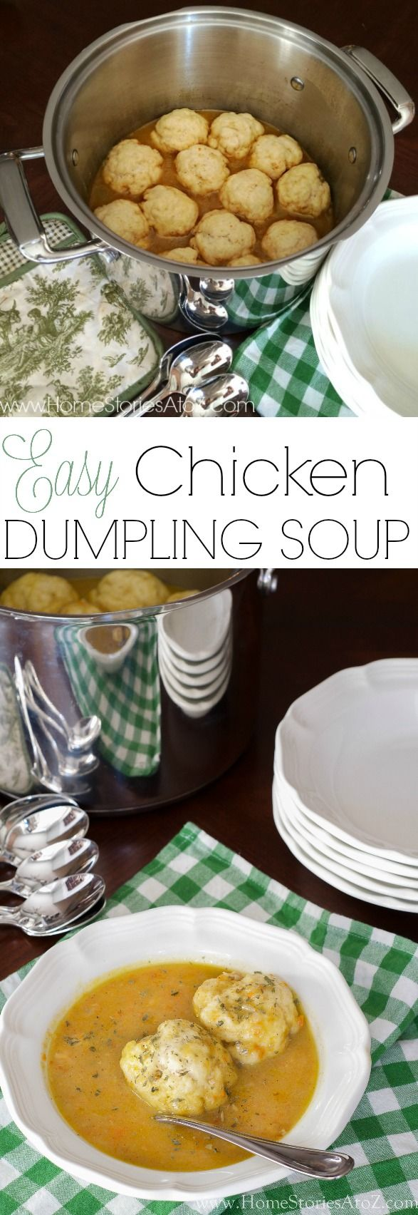 Easy Chicken Dumpling Soup. This is a family heirloom for us and about the only thing that gets me through hard winters. I grew up on this soup and my kids love it as well!