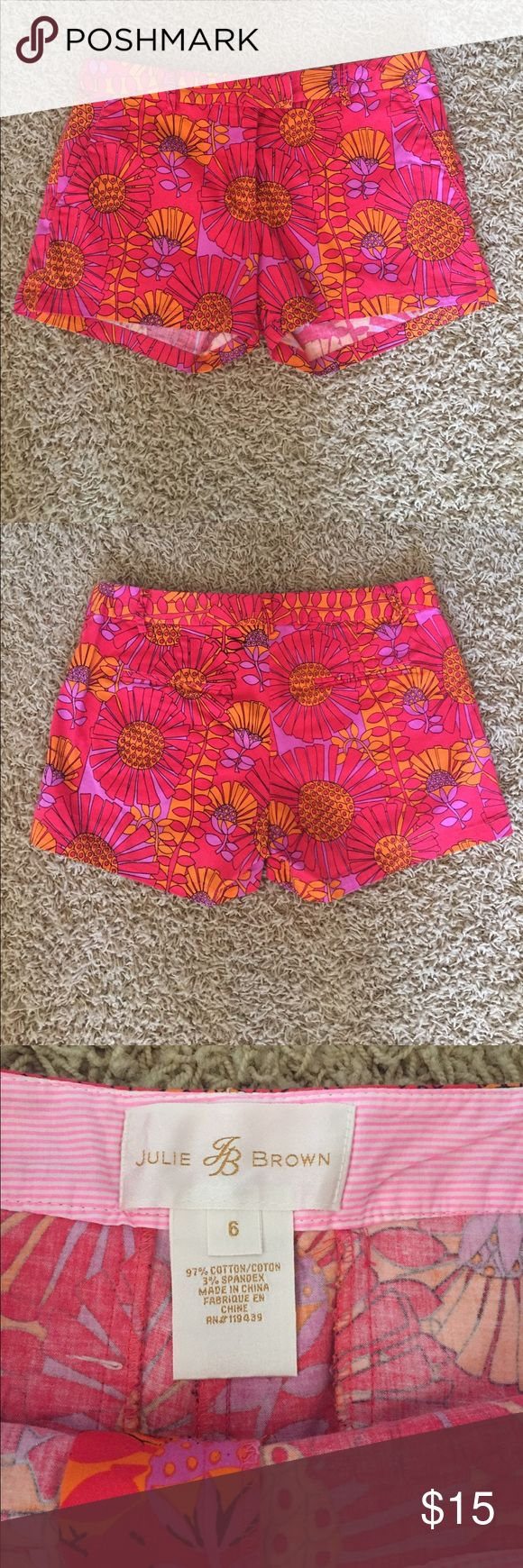 Julie Brown Shorts Like new super cute shorts that really pop. Great for Summer!! Shorts