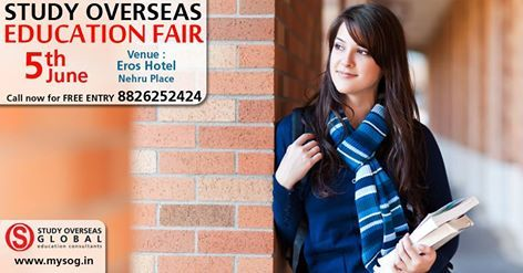 Don't miss to attend Education fair tomorrow (5th June'16) at New Delhi! For details visit: http://studyoverseasglobal.com/ #StudyOverseasGlobal #EducationFair2016 #MayFair #NewDelhi