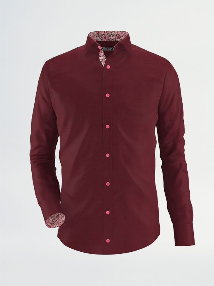 Camasa bordo Exclusive Brands, slim fit, cu un design special. Un model care iti complimenteaza tinuta de club.