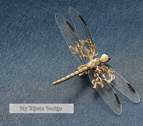 Gold Wedding HeadpieceDragonfly Bridal Hair by MyBijouxDesign