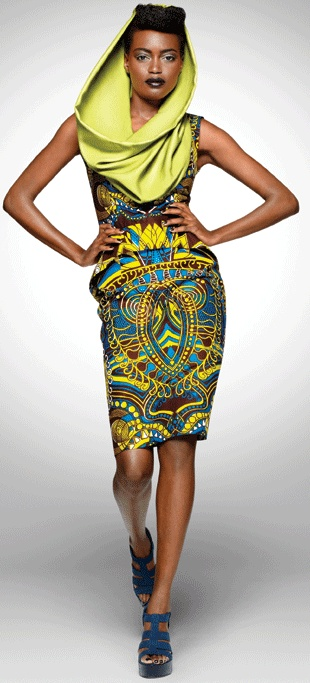 Beautiful hooded African dress