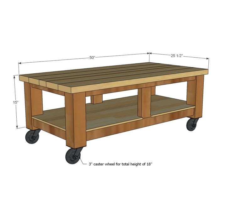 Shop Craps Coffee Table: WoodWorking Projects & Plans