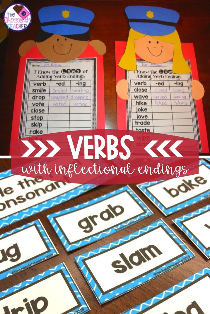 Are You Teaching Verb Inflectional Endings This Fun Unit Will Help You With Teaching And Practicing Inflectional Endings Fun Language Arts Language Arts Unit [ 1102 x 735 Pixel ]