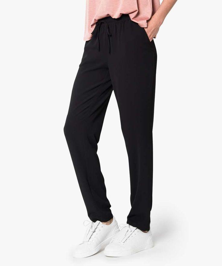 Pantalon fluide taille élastiquée
