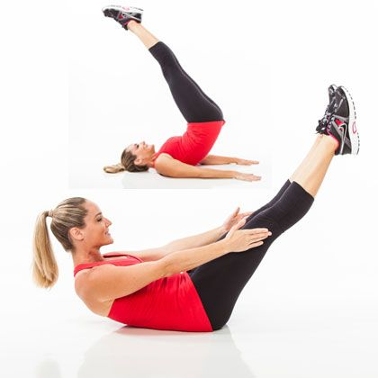 5-Minute Abs: Roll up and lift for an intense core workout.