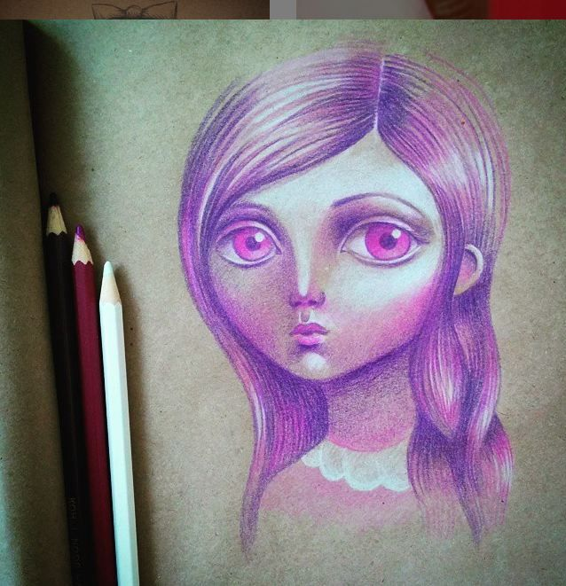 #Art #Popsurrealism: pencil #drawing by Daria Khanolainen