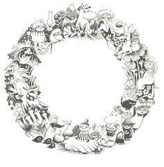 moomin wreath