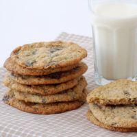 Deilige, seige cookies med sjokoladebiter.