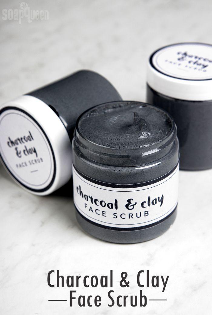 Cleansing Charcoal Facial Scrub DIY