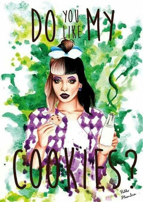 Melanie Martinez milk and cookies fanart