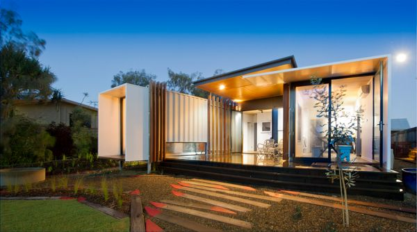 Beach Box shipping container home in Buddina by OGE