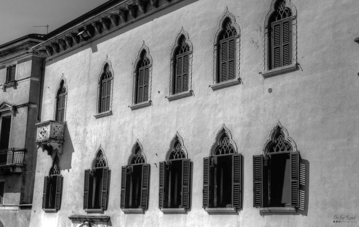 I love the architecture in Verona, but the windows are really beautiful.