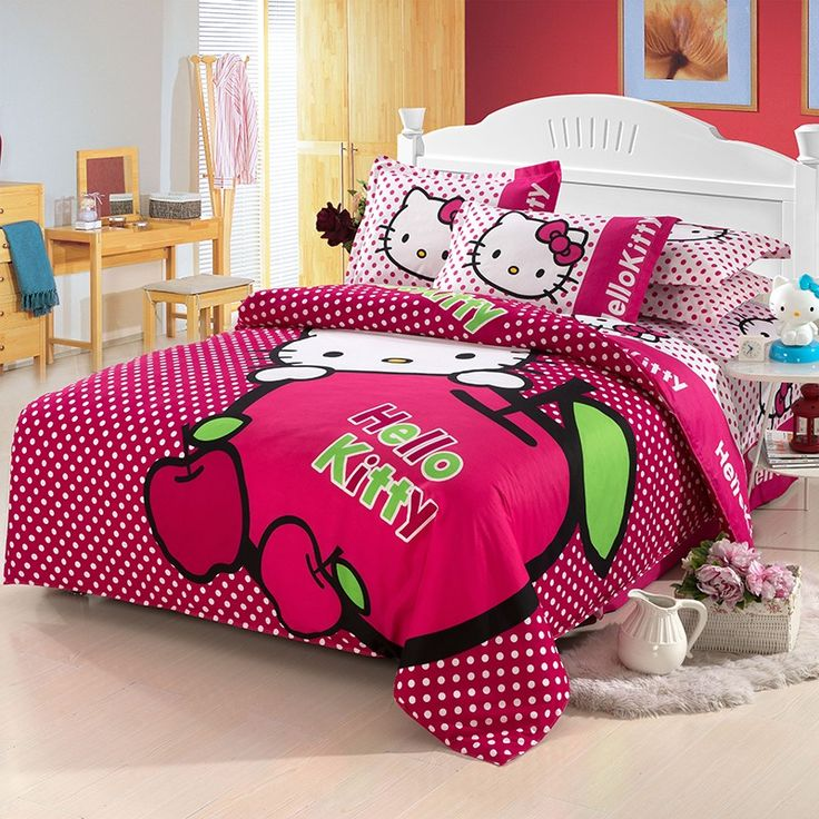 Hello Kitty Bedroom Sets Girls 201 best parure de lit hello kitty images on pinterest | bed